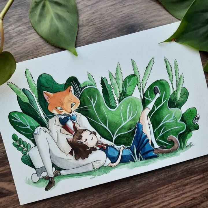Des superbes peintures illustrant des personnages du Studio Ghibli 11