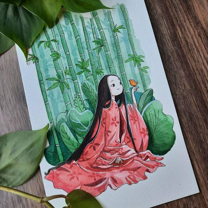 Des superbes peintures illustrant des personnages du Studio Ghibli 6
