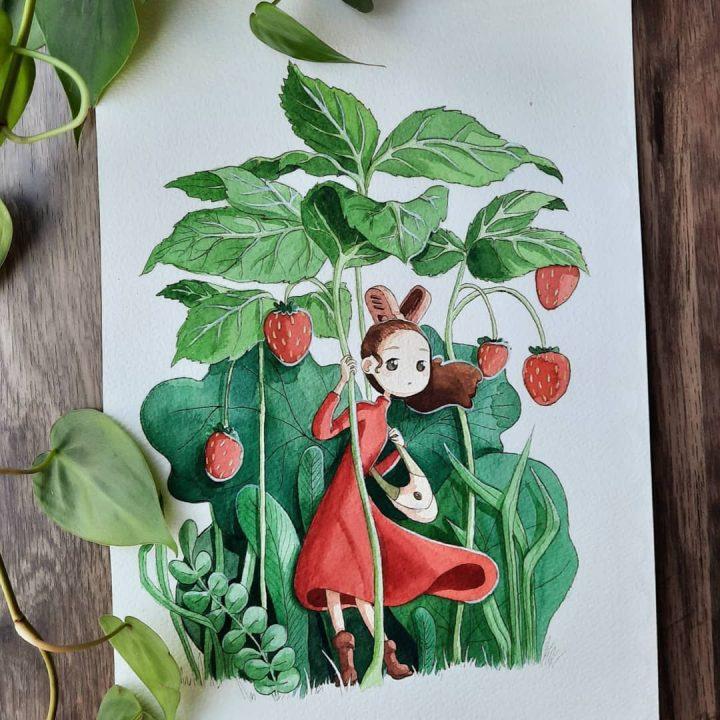 Des superbes peintures illustrant des personnages du Studio Ghibli 9