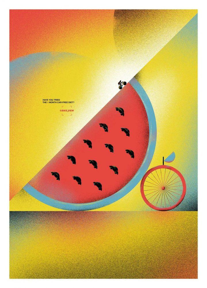 Inspiration et graphisme d'affiches de pub d'Août 2020 21