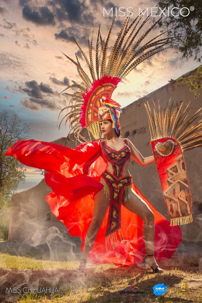 Les superbes costumes des miss mexico 2020 11