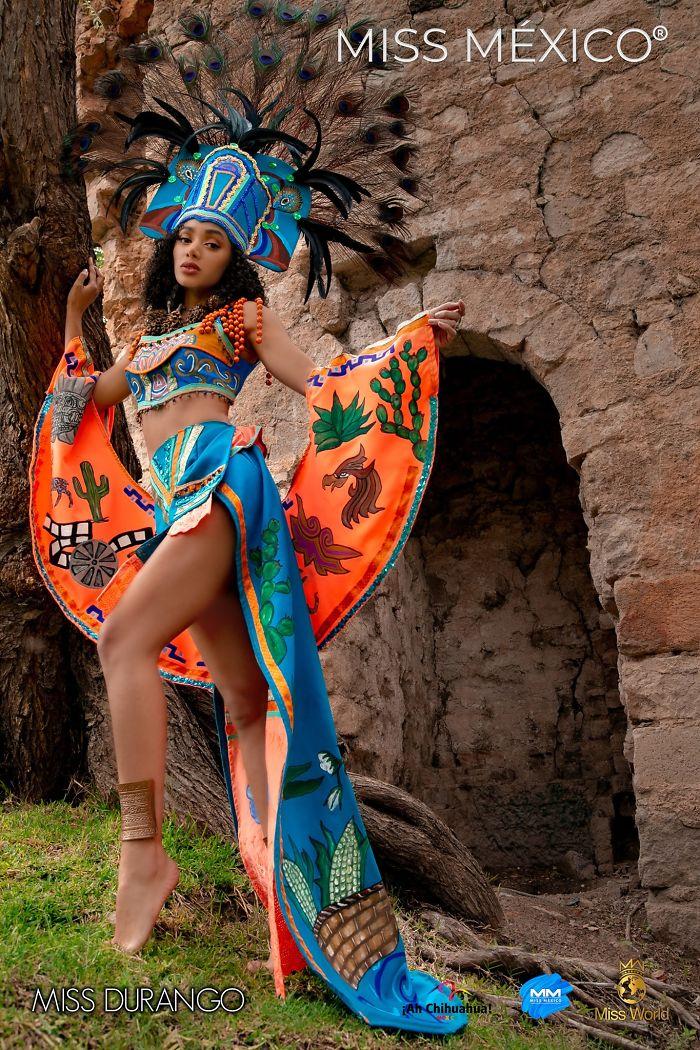 Les superbes costumes des miss mexico 2020 12