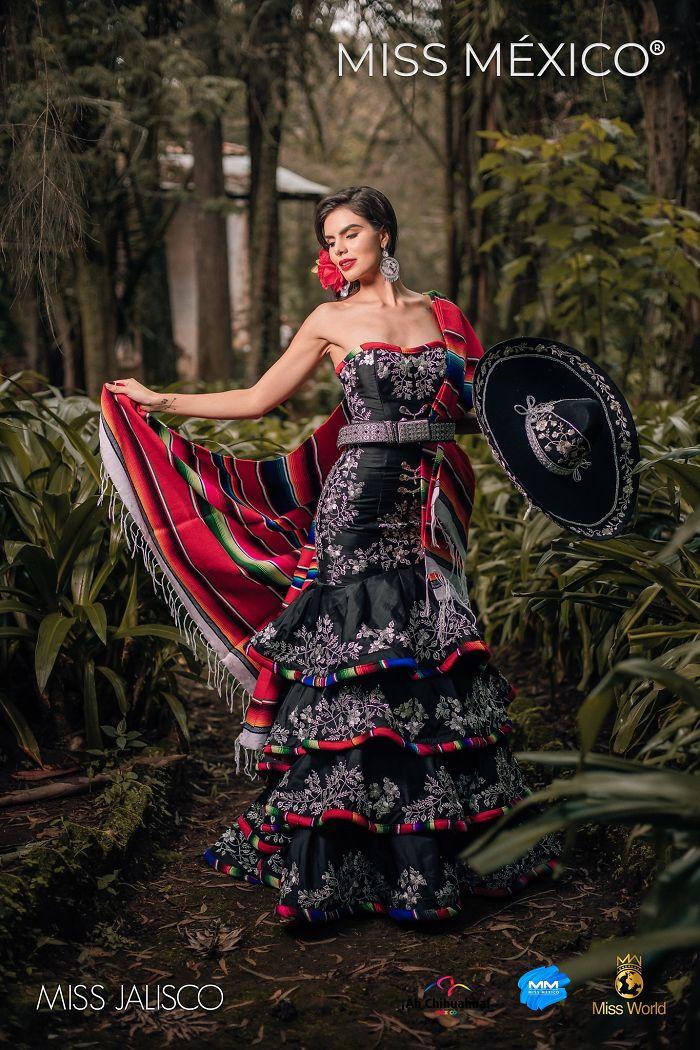 Les superbes costumes des miss mexico 2020 9
