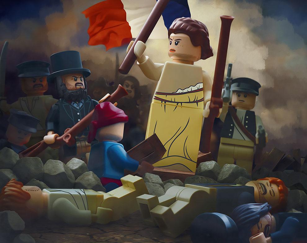 Des Chefs-d'œuvre recréés en LEGO
