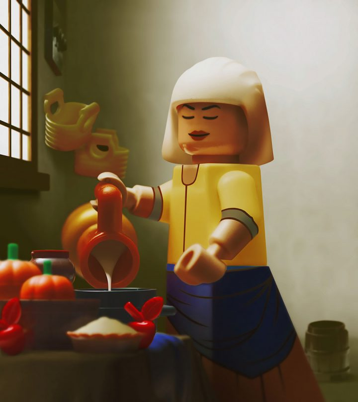 Des Chefs-d'œuvre recréés en LEGO 10