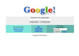 L'historique UX de l'interface de recherche de GOOGLE
