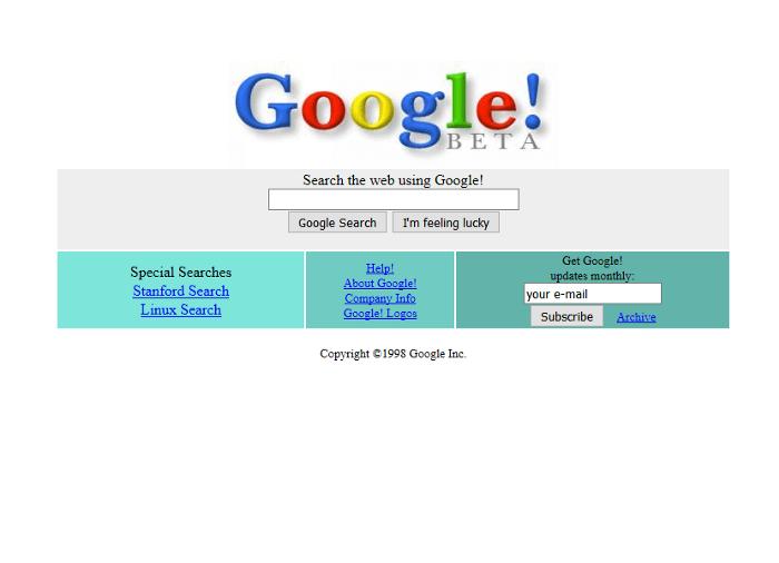 L'historique UX de l'interface de recherche de GOOGLE 2