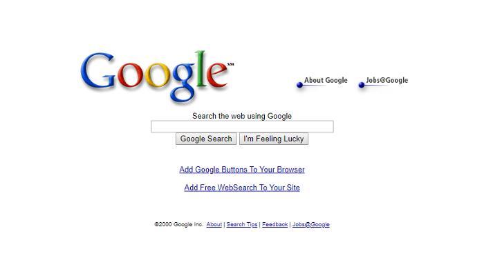 L'historique UX de l'interface de recherche de GOOGLE 3