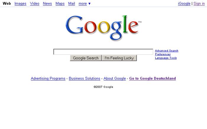 L'historique UX de l'interface de recherche de GOOGLE 7