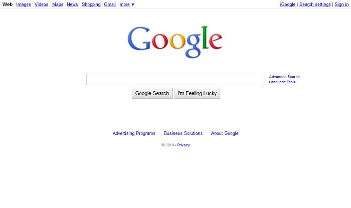 L'historique UX de l'interface de recherche de GOOGLE 8