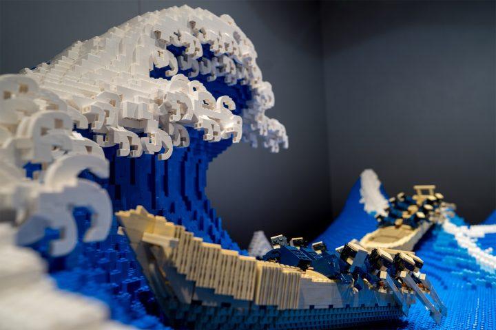 """La Grande Vague"" de Kanagawa recréée en LEGO 3"