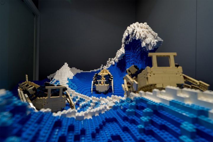 """La Grande Vague"" de Kanagawa recréée en LEGO 4"