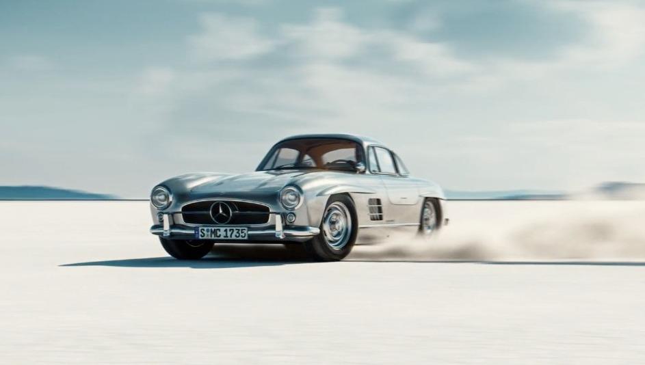 WOW : Gullwing – animation 3D  d'une Mercedes-Benz 300SL