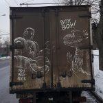 Faire de l'art avec des véhicules sales