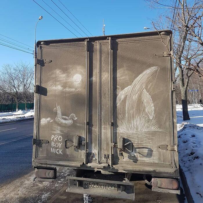 Faire de l'art avec des véhicules sales 4