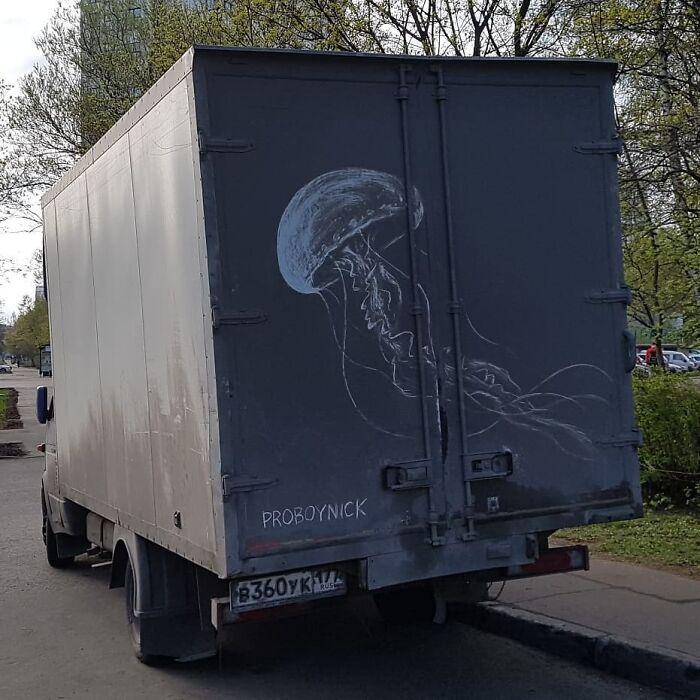 Faire de l'art avec des véhicules sales 8