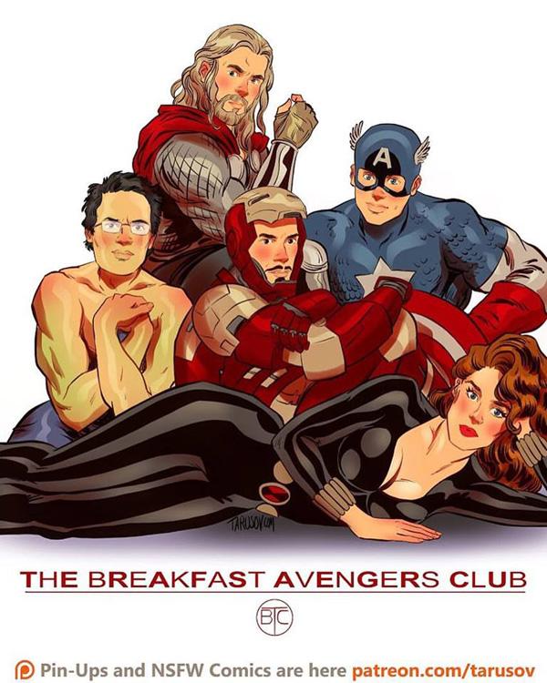 Affiches de films des années 80/90 réinventées avec des super-héros 4