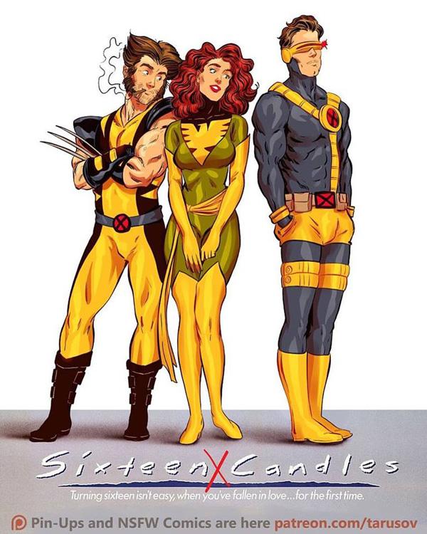 Affiches de films des années 80/90 réinventées avec des super-héros 6
