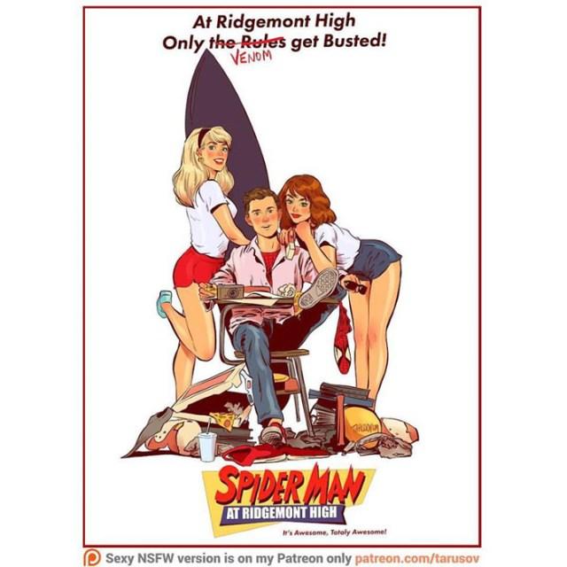 Affiches de films des années 80/90 réinventées avec des super-héros 7