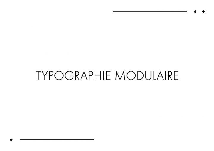 Typographie modulaire : Chouette travail à découvrir 2