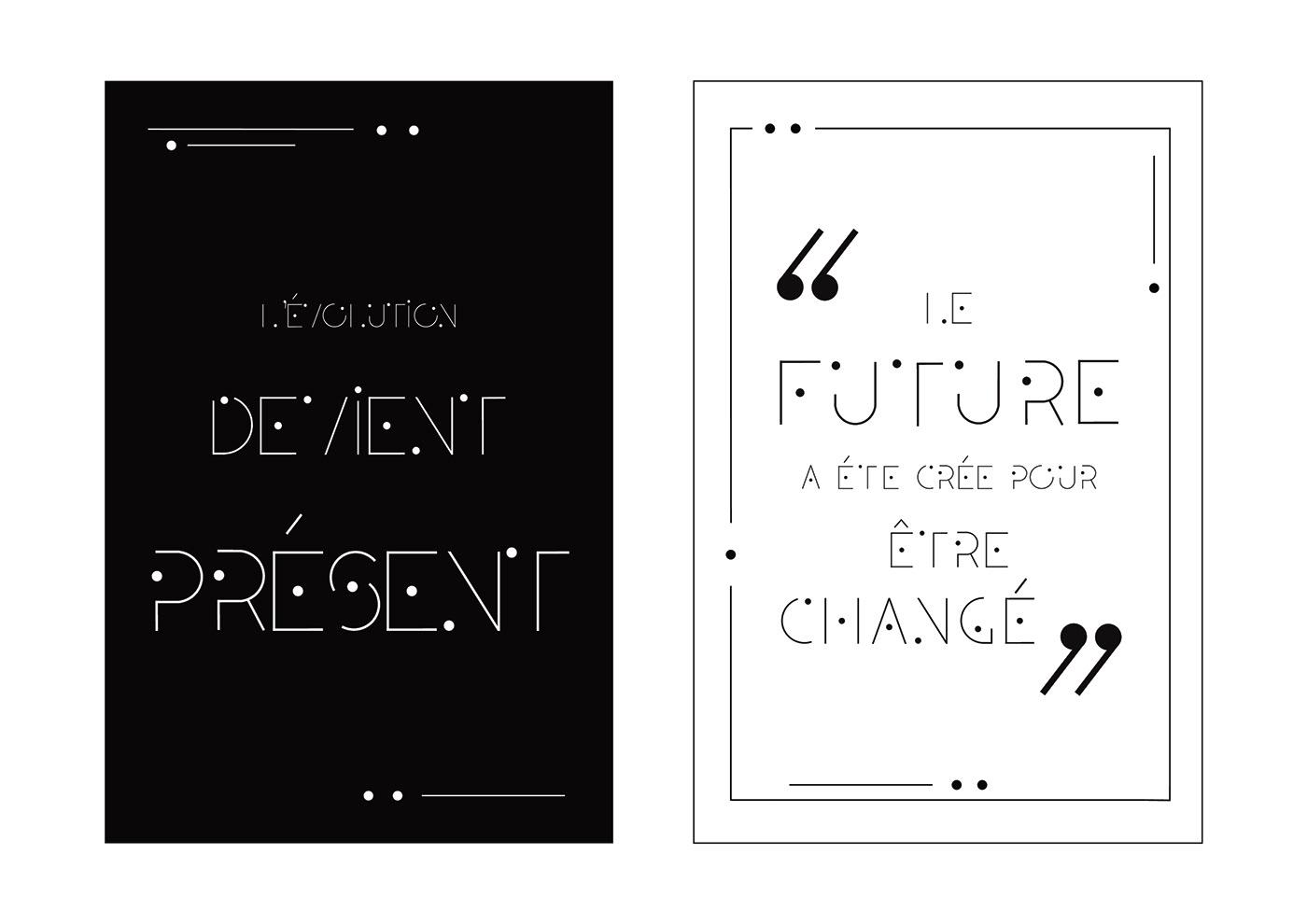 Typographie modulaire : Chouette travail à découvrir