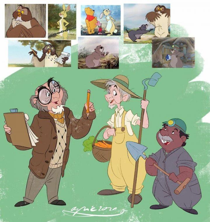 Les animaux Disney en humain et vice-versa 5