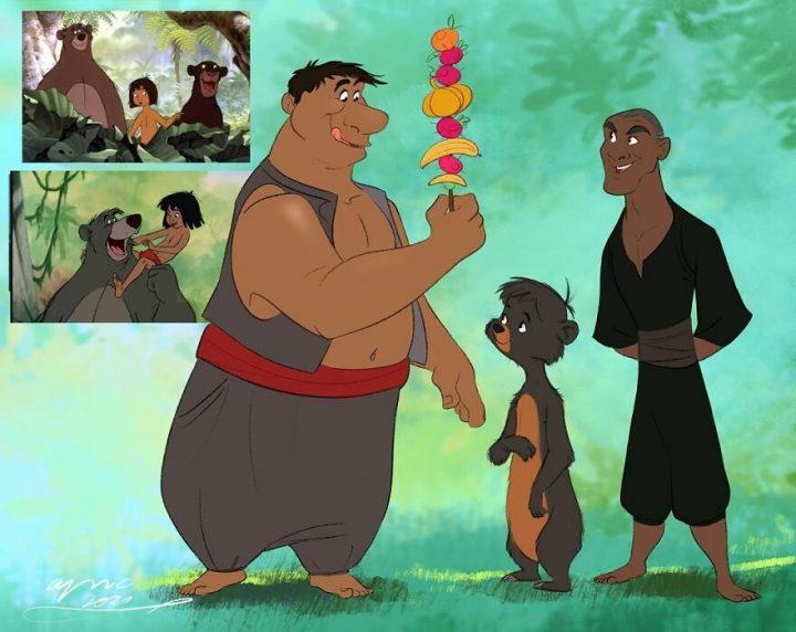 Les animaux Disney en humain et vice-versa 8