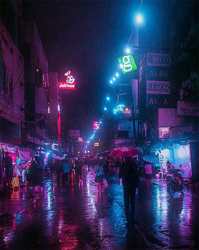 Superbes photos Cyberpunk de Manille aux Philippines 6
