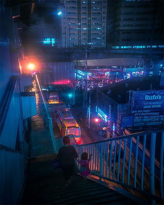 Superbes photos Cyberpunk de Manille aux Philippines 2