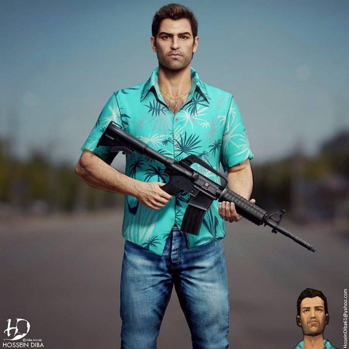 Les portraits de vos personnages connus en 3D réaliste 3