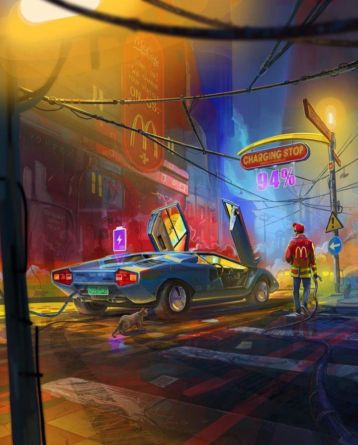 Des illustrations futuristes sombres de Zachary McLean 11
