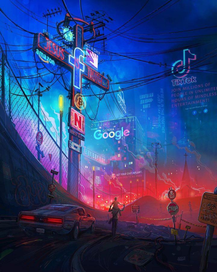 Des illustrations futuristes sombres de Zachary McLean 13