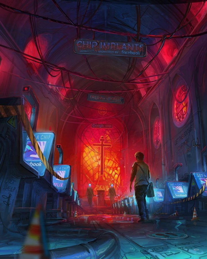 Des illustrations futuristes sombres de Zachary McLean 3