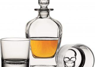 Verres à whisky tète de mort