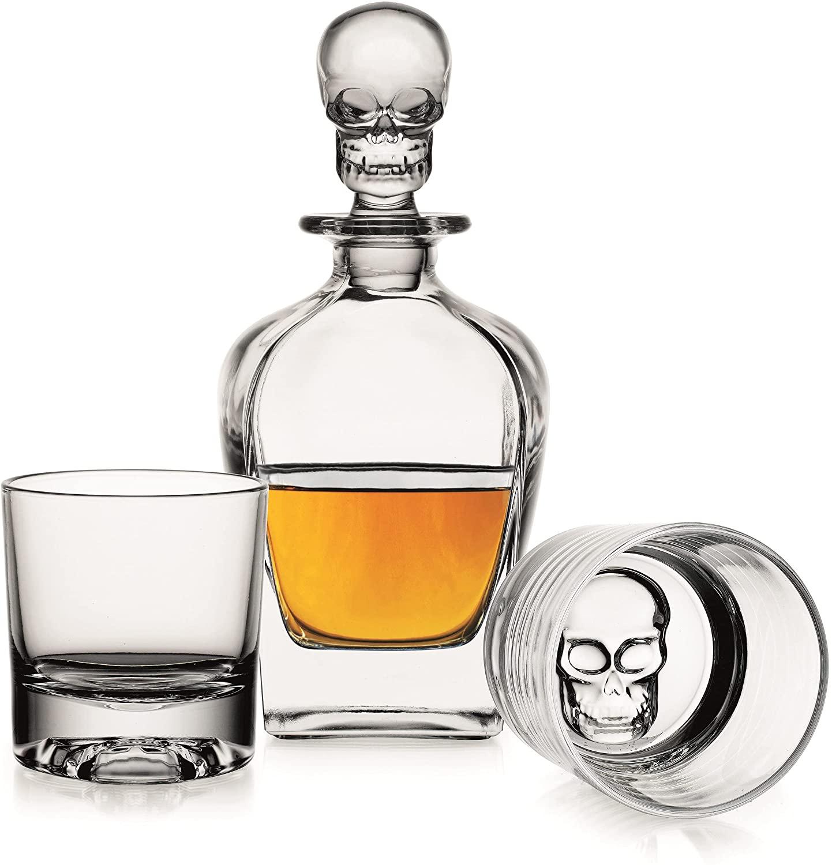 Verres à whisky tète de mort 4